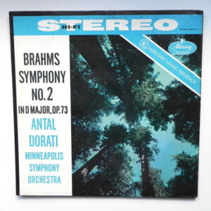 Brahms - SYMPHONY NO. 2 IN D MAJOR OP. 73 / Minneapolis Symphony Orchestra conducted by A. Dorati  --  LP 33 giri  -  Made in USA
