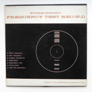 Stereophonic Frequency Test Record --  LP 33 giri  - Made in USA