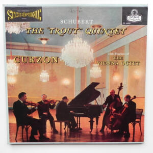 Schubert : The 'Trout' Quintet / Curzon with Members of The Vienna Octet -- LP 33 giri - Made in UK/USA