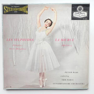 Chopin LES SYLPHIDES - Delibes LA SOURCE / The Paris Conservatoire Orchestra conducted by Peter Maag -- LP 33 giri - Made in  UK/USA
