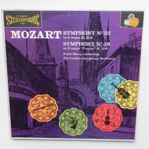 Mozart - SYMPHONY No. 32 - SYMPHONY No. 38 PRAGUE / The London Symphony Orchestra conducted by Peter Maag -- LP 33 giri - Made in  UK/USA