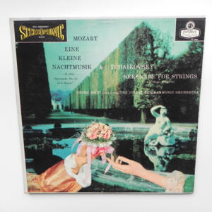 Mozart - EINE KLEINE NACHTMUSIK - Tchaikovsky SERENADE FOR STRINGS / The Israel Philharmonic Orchestra conducted by G. Solti -- LP 33 giri - Made in  UK/USA
