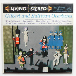 Gilbert and Sullivan OVERTURES / Symphony Orchestra conducted  by Alan Ward --  LP 33 giri - Made in USA
