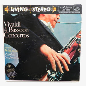 Vivaldi 4 BASSOON CONCERTOS / Sherman Walt / Zimbler Sinfonietta --  LP 33 giri - Made in USA
