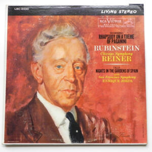 Rachmaninoff RHAPSODY ON A THEME OF PAGANINI - Falla NIGHTS IN THE GARDENS OF SPAIN / Rubinstein --  LP 33 giri - Made in USA