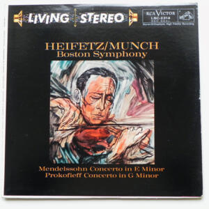 Mendelssohn CONCERTO IN E MINOR - Prokofieff CONCERTO IN G MINOR / Heifetz, violin / The Boston Symphony Orchestra conducted by Munch --  LP 33 giri  - Made in USA