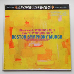 Blackwood SYMPHONY NO.1 - Haieff SYMPHONY NO.2  / The Boston Symphony Orchestra conducted by Munch --  LP 33 giri  - Made in USA