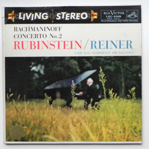 Rachmaninoff CONCERTO NO. 2 / Rubinstein / Chicago Symphony Orchestra conducted by Reiner --  LP 33 giri  - Made in USA