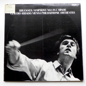 Bruckner SYMPHONY NO. 1 IN C MINOR / Vienna Philharmonic Orchestra conducted by C. Abbado -- LP 33 giri - Made in  UK