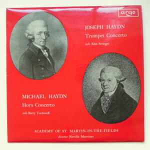 J. Haydn TRUMPET CONCERTO - M. Haydn HORN CONCERTO / Academy of St. Martin-in-the-Fields conducted by N. Merrimer -- LP 33 giri - Made in UK