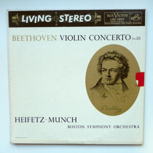 Beethoven VIOLIN CONCERTO IN D / Heifetz / Boston Symphony Orchestra conducted by Munch  --  LP 33 giri  - Made in USA