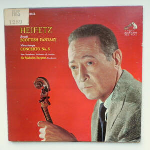Bruch SCOTTISH FANTASY - Vieuxtemps CONCERTO NO. 5 / Heifetz / New Symphony Orchestra  of London conducted by Sir M. Sargent --  LP 33 giri  - Made in USA