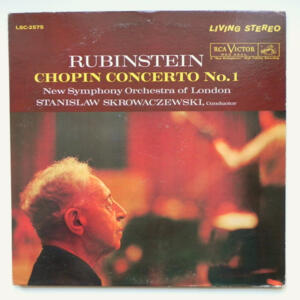 Chopin CONCERTO NO. 1 / Rubinstein / New Symphony Orchestra of London conducted by S. Skrowaczewski --  LP 33 giri  - Made in USA