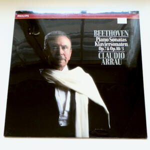Beethoven PIANO SONATAS Op. 7 & Op. 10/3 / Claudio Arrau -- LP 33 giri - Made in Holland - SIGILLATO - SAWCUT