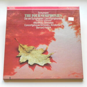 Schumann THE FOUR SYMPHONIES / Concertgebouw Orchestra Amsterdam conducted by B. Haitink  --  Boxset  3 LP 33 giri -  Made in EU - SIGILLATO