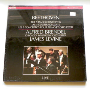 Beethoven THE 5 PIANO CONCERTOS / Alfred Brendel / Chicago Symphony Orchestra conducted by J. Levine --  Boxset 4 LP 33 giri -  Made in EU - SIGILLATO