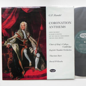 G.F. Handel CORONATION ANTHEMS / The English Chamber Orchestra conducted by D. Willcocks  --  LP 33 giri - Made in UK