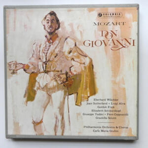 Mozart DON GIOVANNI  / Philharmonia Orchestra and Chorus directed by Carlo Maria Giulini  --  Boxset 4 LP 33 giri - Made in UK