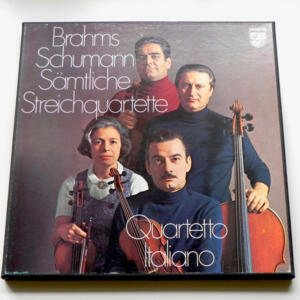 Brahms - Schumann / Quartetto Italiano --  Boxset 3 LP 33 giri - Made in Holland