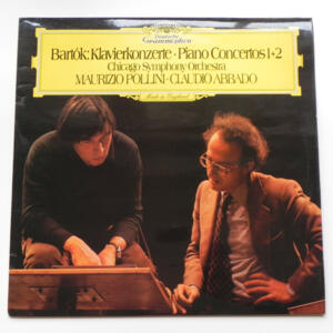 Bartok PIANO CONCERTOS 1+2 / Maurizio Pollini / Chicago Symphony Orchestra conducted by Claudio Abbado --  LP 33 giri  -  Made in UK