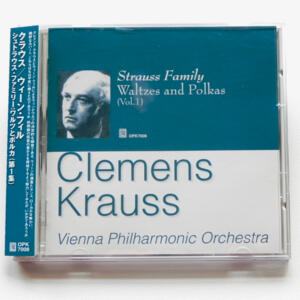Strauss Family WALTZES AND POLKAS Vol. 1 / Vienna Philharmonic Orchestra conducted by Clemens Krauss  --  CD  -  Made in Japan - OBI