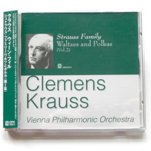 Strauss Family WALTZES AND POLKAS Vol. 2 / Vienna Philharmonic Orchestra conducted by Clemens Krauss  --  CD  -  Made in Japan - OBI