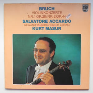 Bruch VIOLINKONZERTE / Salvatore Accardo / Gewandhausorchester Leipzig conducted by Kurt Masur  --  LP 33 giri - Made in Holland