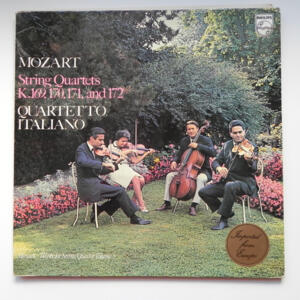 Mozart STRING QUARTETS K. 169, 170, 171 AND 172 / Quartetto Italiano  --  LP 33 giri - Made in Holland