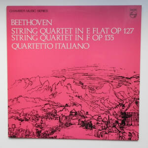 Beethoven STRING QUARTETS  IN E FLAT OP. 127 AND IN F OP. 135 / Quartetto Italiano  --  LP 33 giri - Made in UK