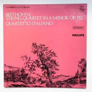 Beethoven STRING QUARTET  IN A MINOR OP. 132 / Quartetto Italiano  --  LP 33 giri - Made in Holland