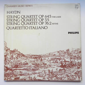 Haydn STRING QUARTET NO. 645, 35 AND 762 /  Quartetto Italiano  --  LP 33 giri - Made in Holland