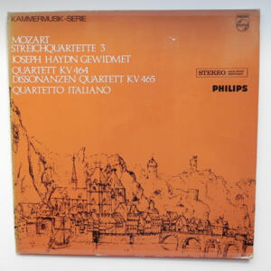 Mozart STREICHQUARTETTE 3 - Haydn QUARTETT KV 464 DISSONANZEN- QUARTETT KV 465 /  Quartetto Italiano  --  LP 33 giri - Made in UK