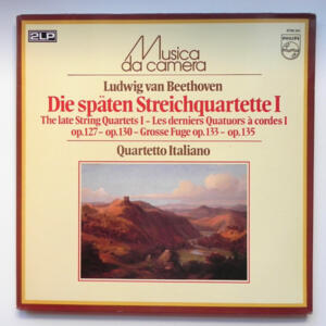 Beethoven THE LATE STRING QUARTETS I  /  Quartetto Italiano  --  Doppio LP 33 giri - Made in Holland