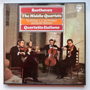 Beethoven THE MIDDLE QUARTETS  -  Quartetto Italiano  --  Triplo LP 33 giri - Made in Holland
