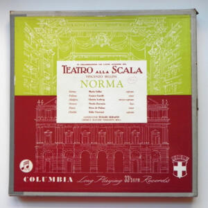 Vincenzo Bellini NORMA  / Orchestra del Teatro alla Scala conducted by Tullio Serafin --  Boxset 3 LP 33 giri - Made in UK