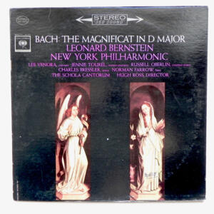 Bach THE MAGNIFICAT IN D MAJOR / New York Philharmonic conducted by Leonard Bernstein --  LP 33 giri - Made in USA