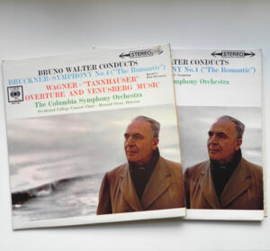Bruckner Symphony No. 4 THE ROMANTIC - Wagner TANNHAUSER / The Columbia Symphony Orchestra conducted by Bruno Walter  --  Doppio LP 33 giri - Made in UK
