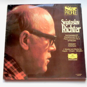 Rachmaninoff PIANO CONCERTO NO. 2 - 6 PRELUDES / Debussy ESTAMPES  / Sviatoslav Richter - Doppio LP 33 giri - Made in Germany