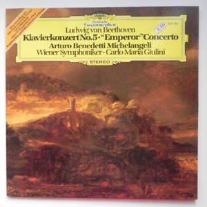 Beethoven PIANO CONCERTO NO. 5 EMPEROR  / A.B. Michelangeli / Wiener Symphoniker conducted by Carlo Maria Giulini  --  LP 33 giri - Made in Germany