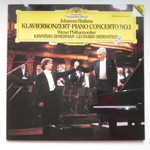 Brahms  PIANO CONCERTO NO.1  /  K. Zimerman / Wiener Symphoniker conducted by L. Bernstein  --  LP 33 giri - Made in Germany