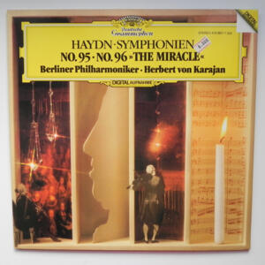 Haydn SYMPHONIEN NO. 95 - NO. 96  THE MIRACLE / Berliner Philharmoniker conducted by Herbert von Karajan  --  LP 33 giri - Made in Germany