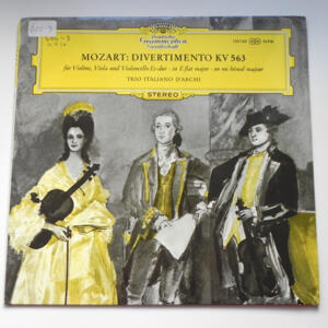 Mozart DIVERTIMENTO KV 563 / Trio Italiano d'Archi  --  LP 33 giri - Made in Germany