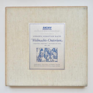 J.S. Bach - Weihnachts-Oratorium / Munchener Bach Choir und Orchester conducted by Karl  Richter  --  Boxset 3 LP  33 giri - Made in Germany