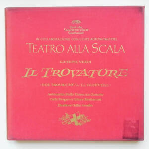 Verdi IL TROVATORE / Orchestra del Teatro alla Scala  conducted by Tullio Serafin  --  Boxset 3 LP 33 giri - Made in Germany