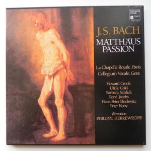 J.S. Bach MATTHAUS PASSION / La Chapelle Royale  Paris - Collegium Vocale Gent directed by Philppe Herreweghe  --  Boxset 3 LP 33 giri - Made in France