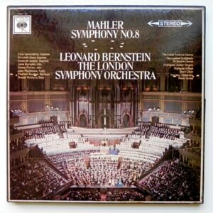 Mahler SYMPHONY NO.8 / The London Symphony Orchestra conducted by Leonard Bernstein  --  Boxset 2 LP 33 giri  - Made in UK