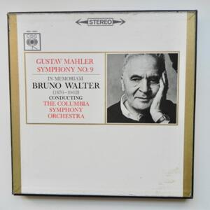 Malher SYMPHONY No.9 / The Columbia Symphony Orchestra conducted by Bruno Walter  --  Boxset 3 LP 33 giri - Made in UK