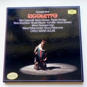 Giuseppe Verdi RIGOLETTO / Wiener Philharmoniker conducted by Carlo Maria Giulini  --  Boxset 3 LP 33 giri - Made in Germany