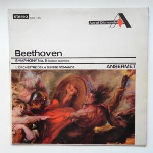 Beethoven SYMPHONY NO. 5 EGMONT OVERTURE / L'Orchestre de la Suisse Romande conducted by Ansermet --  LP 33 giri -  Made in England