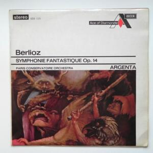 Berlioz SYMPHONIE FANTASTIQUE OP. 14 / Paris Conservatoire Orchestra conducted by Argenta  --  LP 33 giri -  Made in England